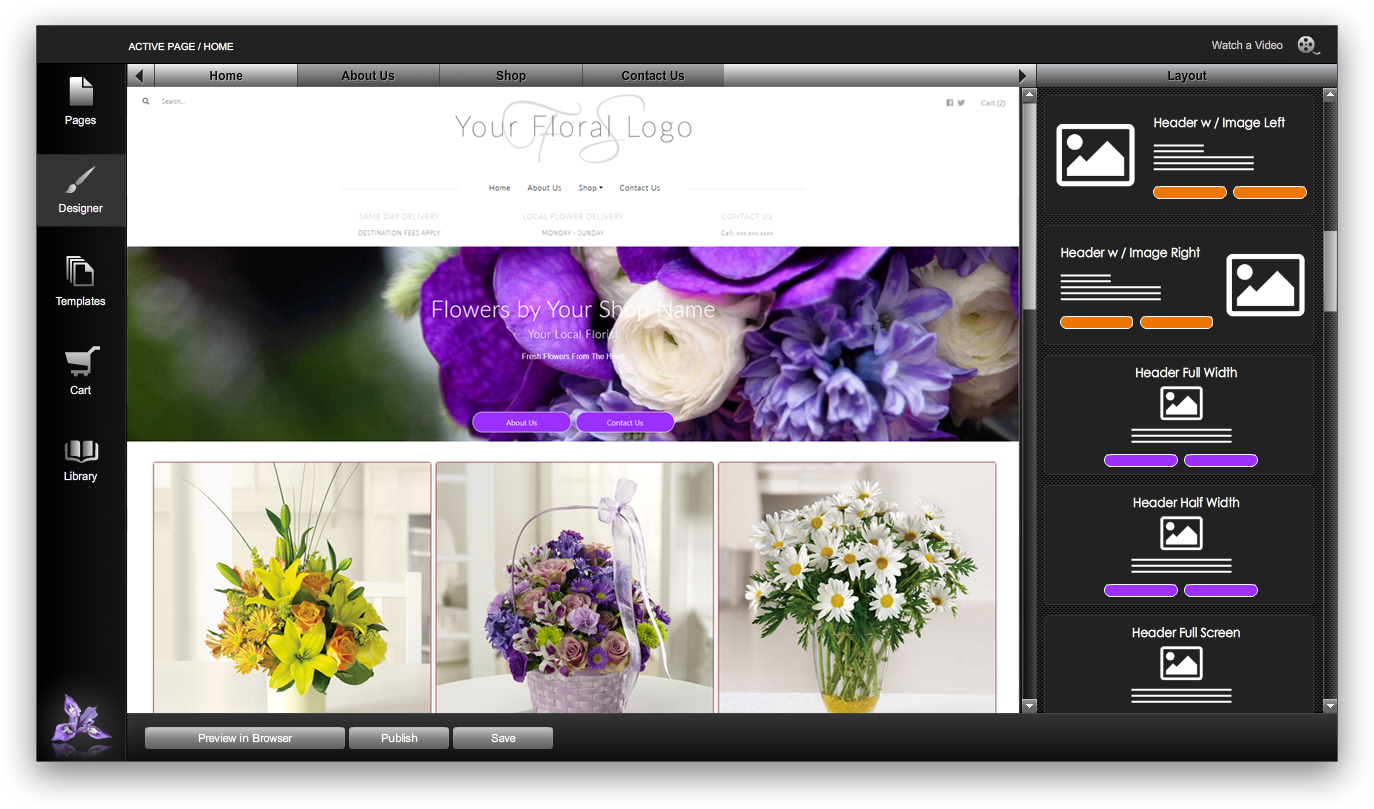 Florist Websites Builder