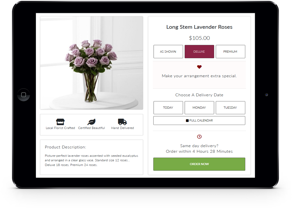 Florist Websites Shopping Cart